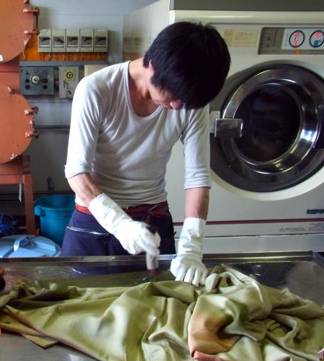 丸洗い 手で洗っています