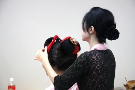 ヘアメイクセミナー 結髪デモンストレーション