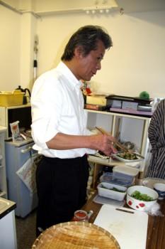 料理も得意な諏訪先生